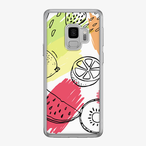 Graphic Summer Fruit Samsung Galaxy Phone Case by Tiny Quail