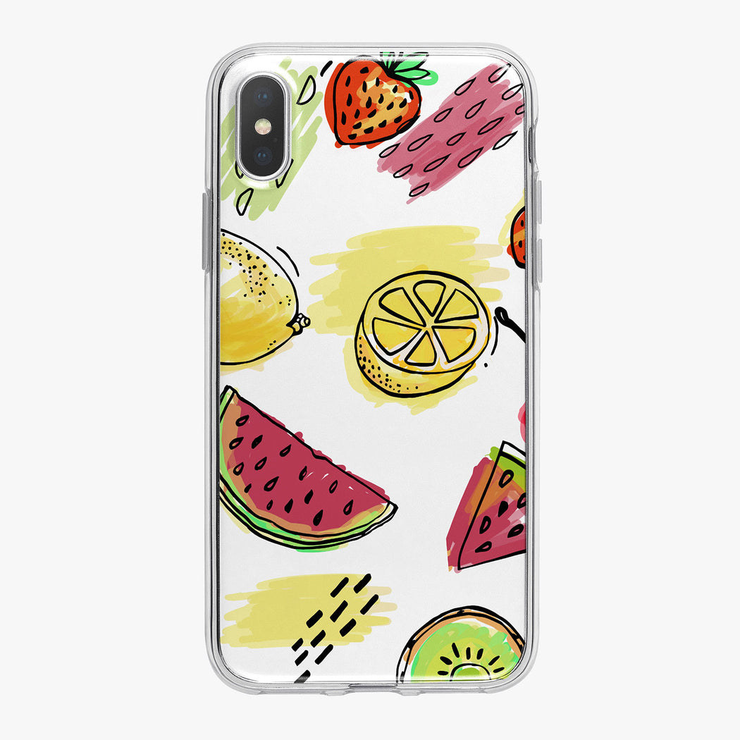 Summer Fruit and Colors iPhone Case by Tiny Quail