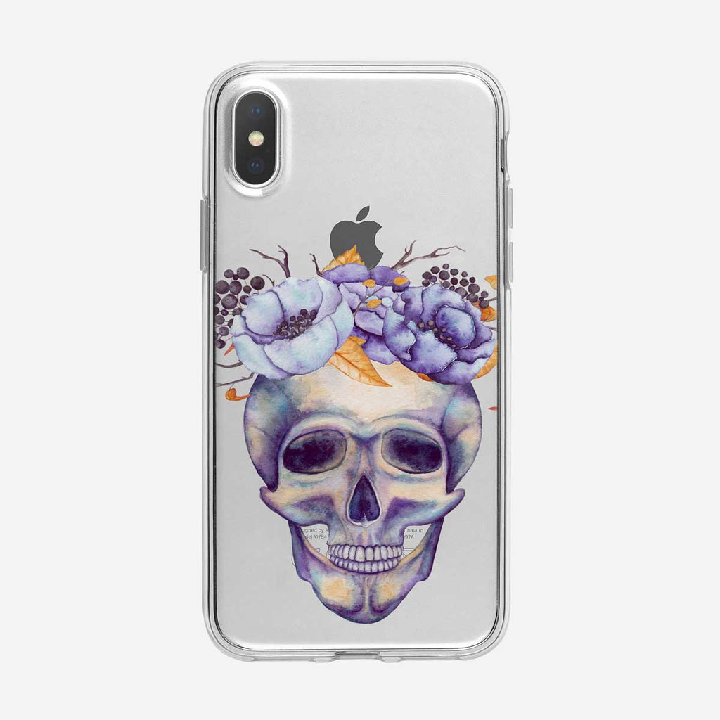 Floral and Skull  iPhone Case From Tiny Quail