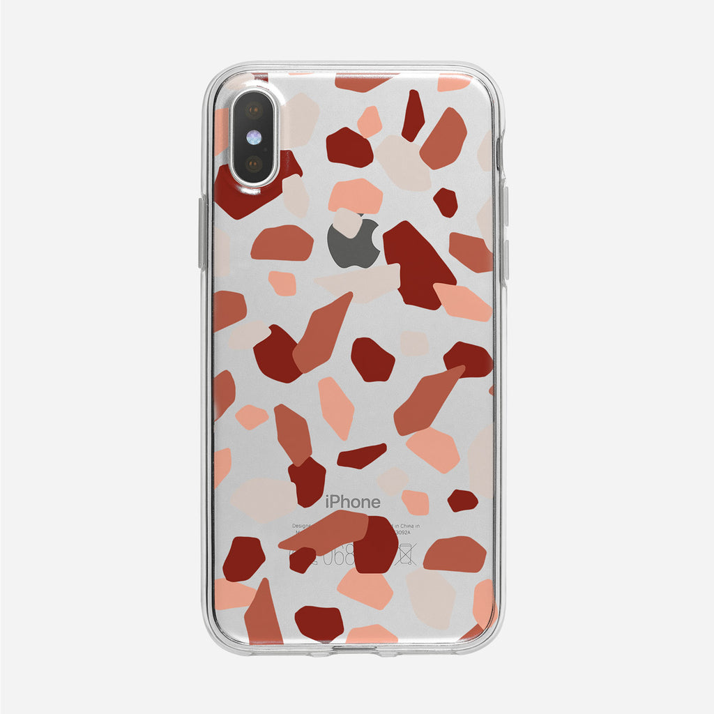 Colorful and Funky Abstract Pattern Clear iPhone Case from Tiny Quail