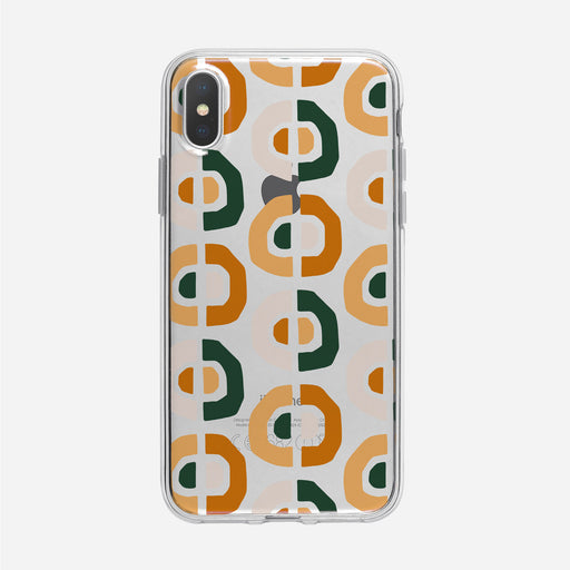 Funky Orange Circles Pattern Clear iPhone Case from Tiny Quail