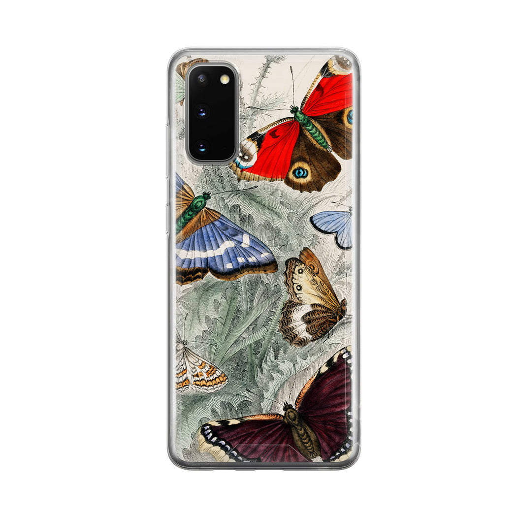 Colorful Vintage Moth Samsung Galaxy Phone Case From Tiny Quail