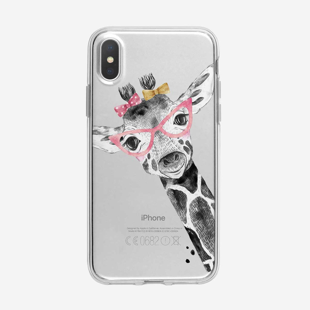 Adorable Baby Giraffe Clear iPhone Case from Tiny Quail