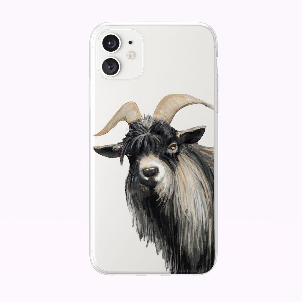 Cranky Long-Haired Goat iPhone Case from Tiny Quail