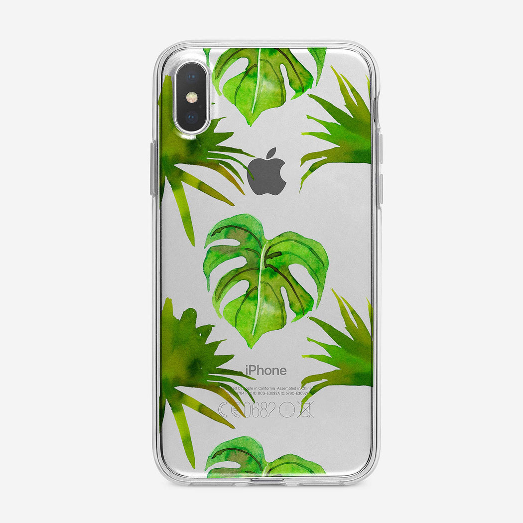 Green Leaves Pattern iPhone Case by Tiny Quail