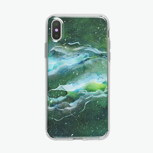 Green Space Nebula iPhone Case by Tiny Quail