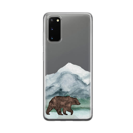 Mountain Grizzly Bear Clear Samsung Galaxy Phone Case From Tiny Quail