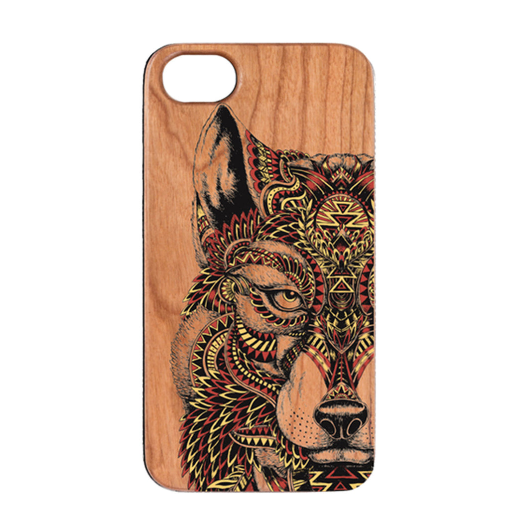 Cherry Wood Wolf iPhone Case by Otto