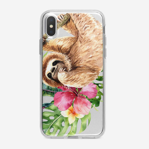 Cute Watercolor Sloth iPhone Case From Tiny Quail