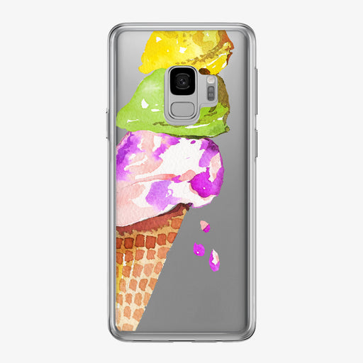 Colorful Ice Cream Cone Samsung Galaxy Phone Case from Tiny Quail