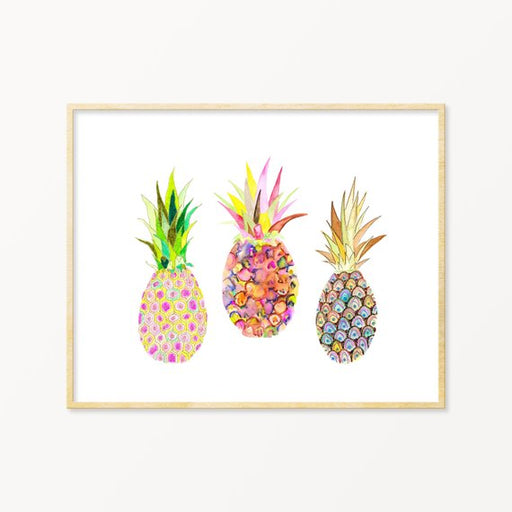 Pineapple Watercolor Archival Wall Art Print From Snoogs and Wilde