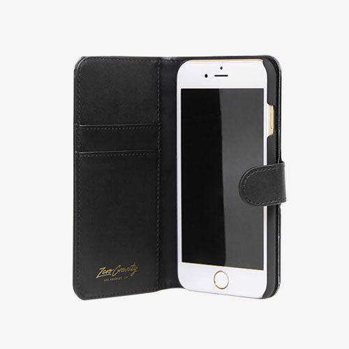 Flowers Jardin Wallet Designer iPhone Case Open From Zero Gravity