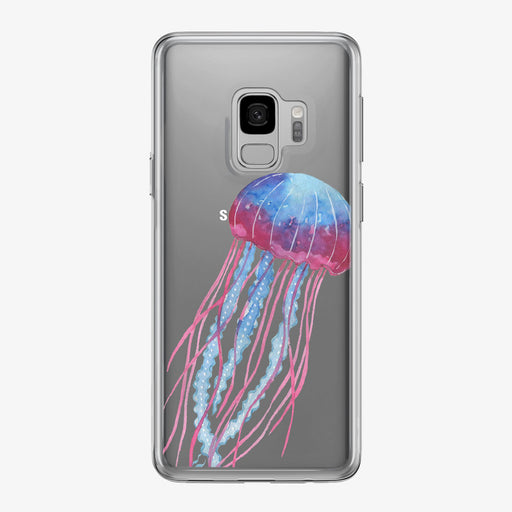 Colorful Jellyfish Clear Samsung Galaxy Phone Case from Tiny Quail