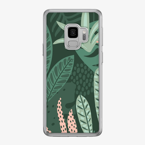 Bright Jungle Leaves Samsung Galaxy Phone Case by Tiny Quail