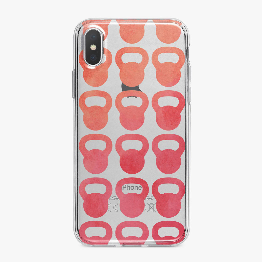 Pink Watercolor Kettle Balls Fitness Designer iPhone Case From Tiny Quail