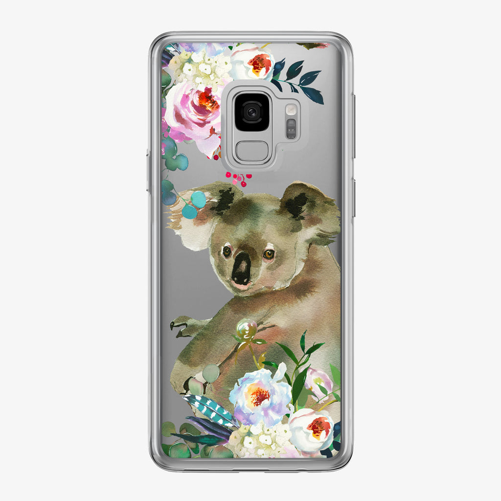 Cute Floral Koala Samsung Galaxy Phone Case from Tiny Quail