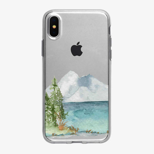 Watercolor Mountain Lake iPhone Case from Tiny Quail