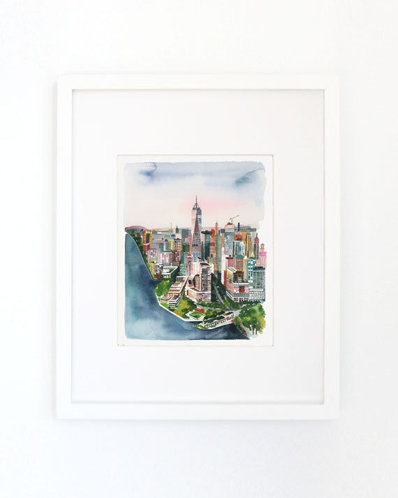 New York Archival Wall Art Print by Yao Cheng Design