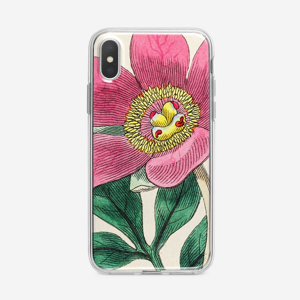 Large Pink Botanical Flower iPhone Case from Tiny Quail