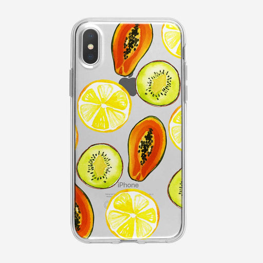 Large Tropical Fruit Pattern iPhone Case from Tiny Quail