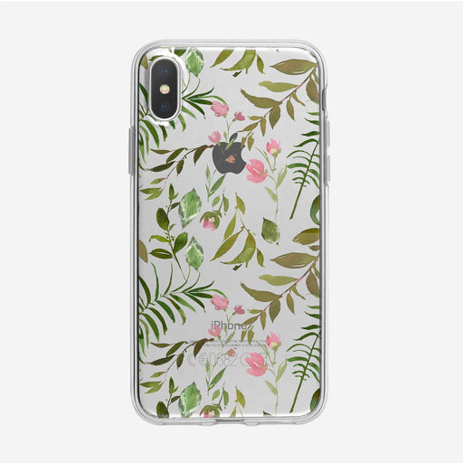 Leafy Forest Floral Clear iPhone Case by Tiny Quail