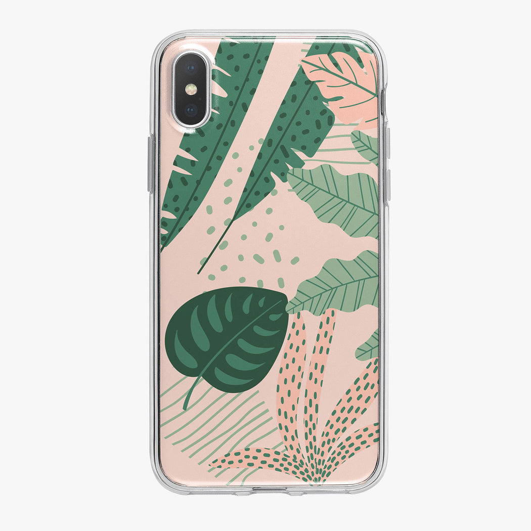 Colorful Jungle Leaves iPhone Case from Tiny Quail