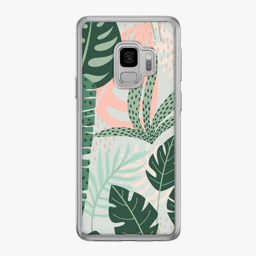 Stylized Jungle Leaves Pattern Samsung Galaxy Phone Case by Tiny Quail