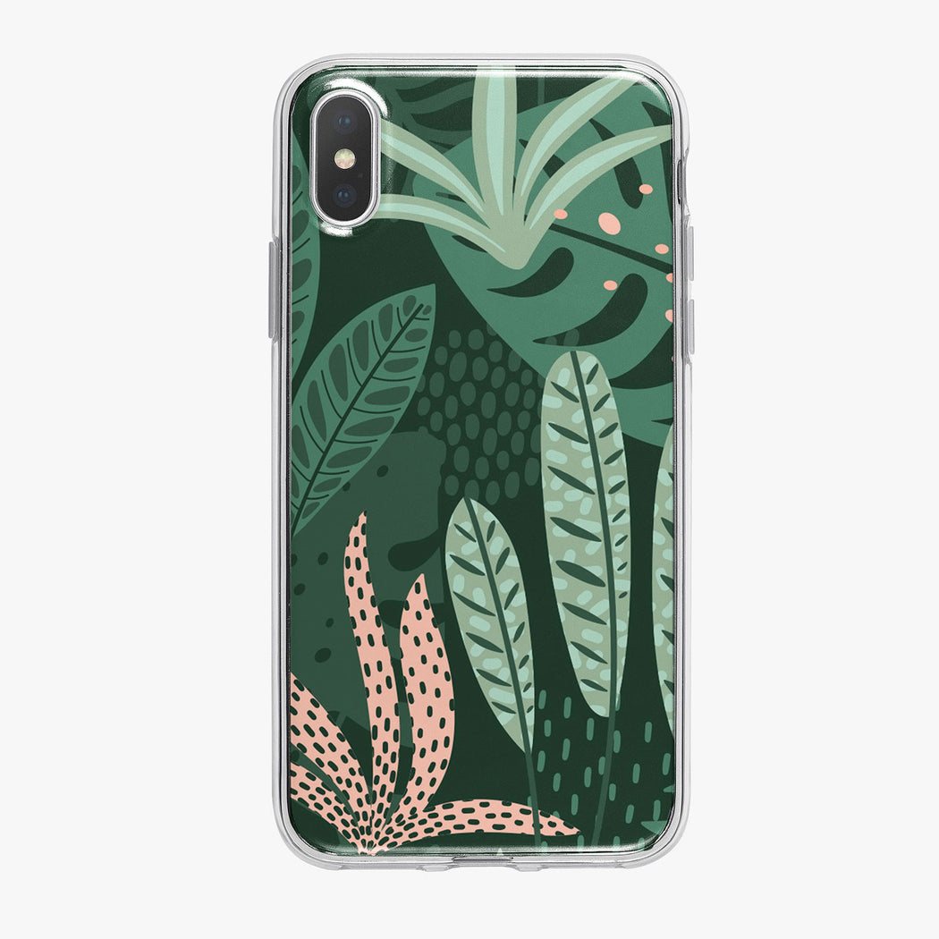 Bright Jungle Leaves iPhone Case from Tiny Quail