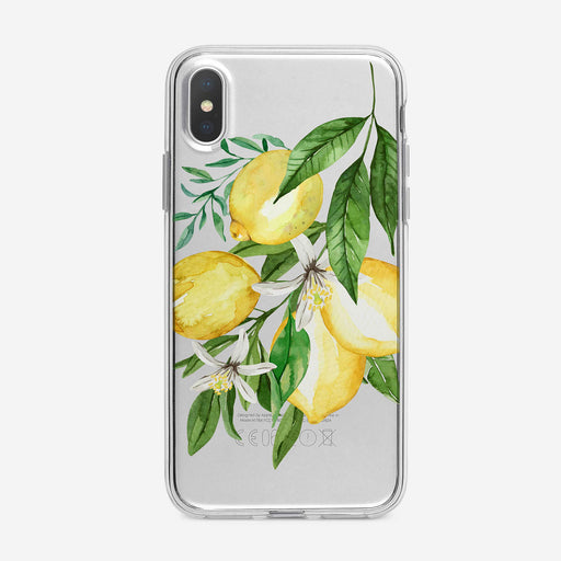 Floral Lemon Branch Clear iPhone Case by Tiny Quail