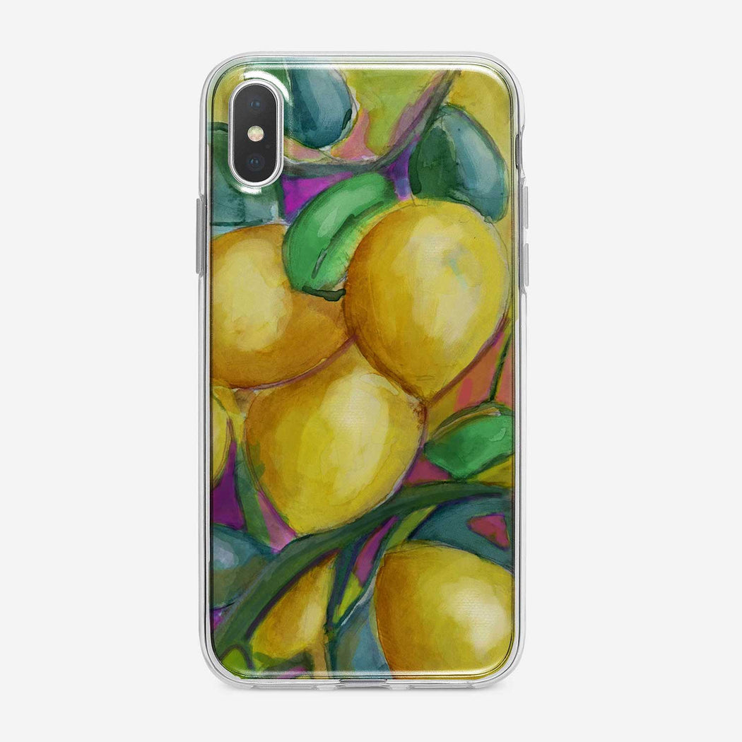 Colorful Lemons iPhone Case by Tiny Quail