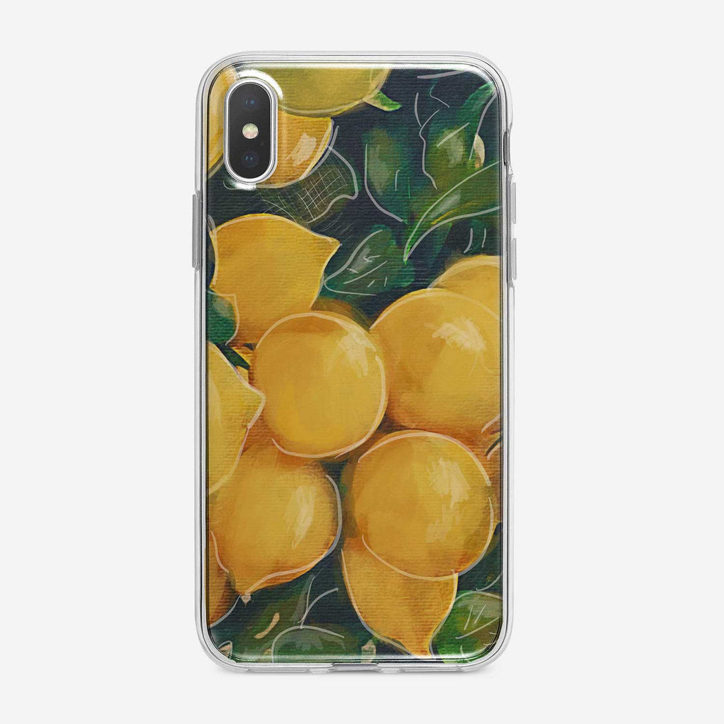 Bright Lemons iPhone Case by Tiny Quail