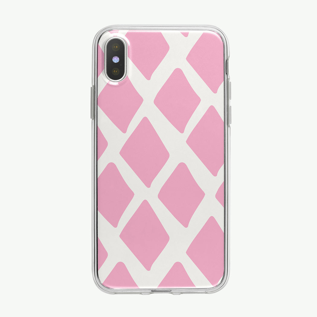 Pink Diamond Pattern iPhone Case from Tiny Quail