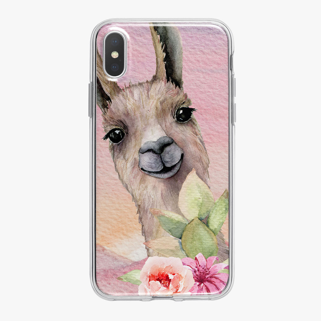 Llama in Colorful Desert iPhone Case from Tiny Quail