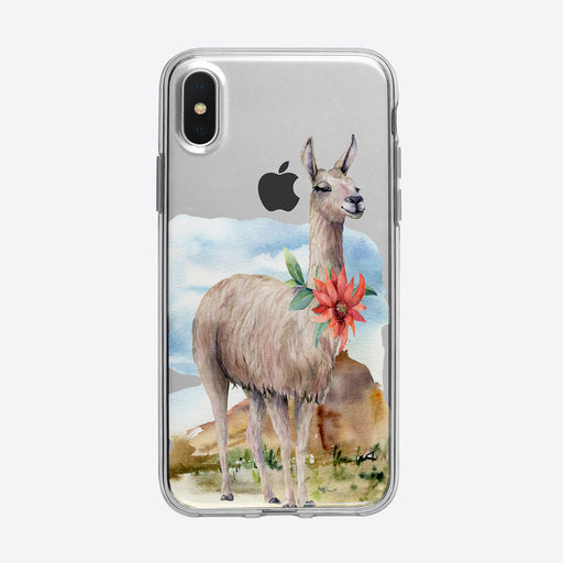Serene Floral Desert Llama iPhone Case from Tiny Quail