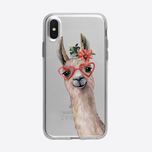 Llama with glasses iPhone Case from Tiny Quail