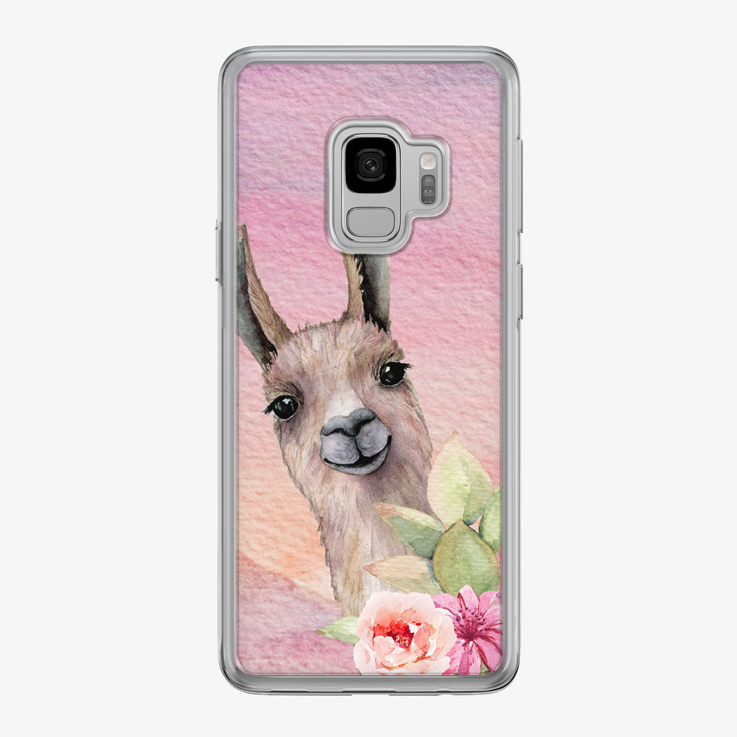 Llama in Colorful Desert Samsung Galaxy Phone Case by Tiny Quail
