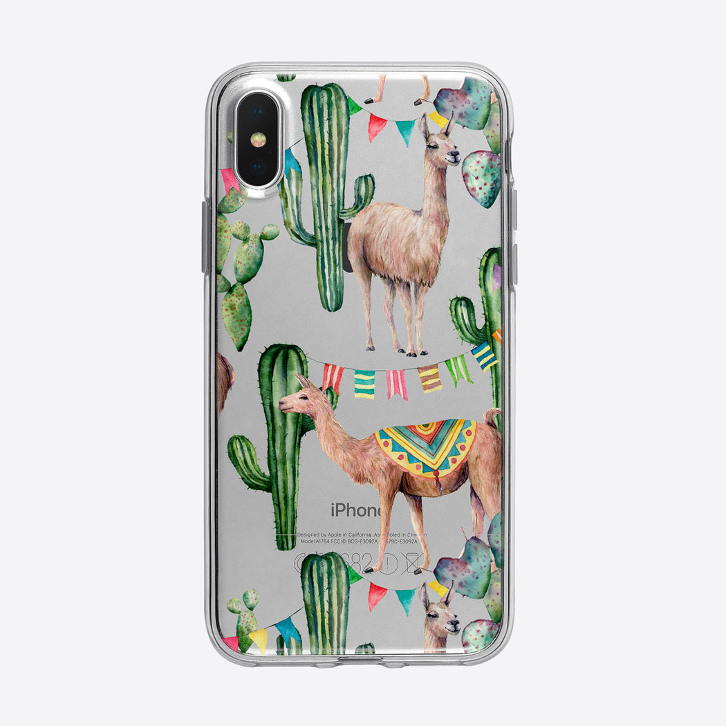Cute Fiesta Llamas Pattern iPhone Case from Tiny Quail