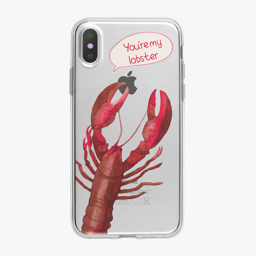 You're My Lobster Clear iPhone Case by Tiny Quail