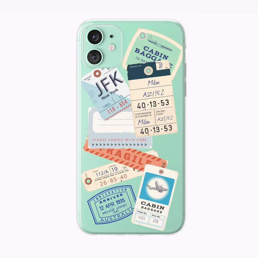 Vintage Luggage Tags iPhone Case from Tiny Quail