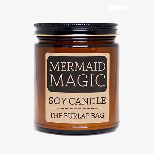 Mermaid Magic Soy Candle 9oz By The Burlap Bag - Tiny Quail