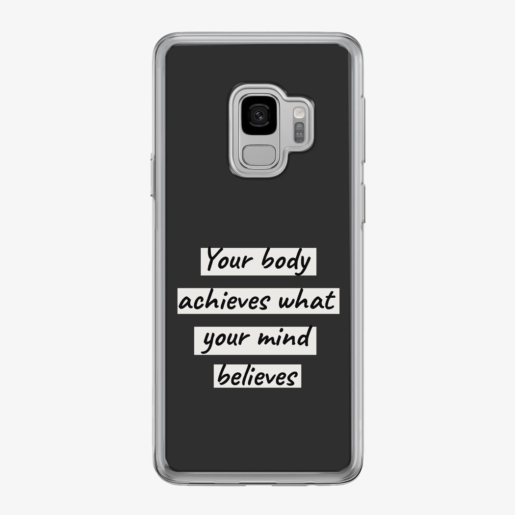 Your Body Achieves Samsung Galaxy Fitness Phone Case by Tiny Quail