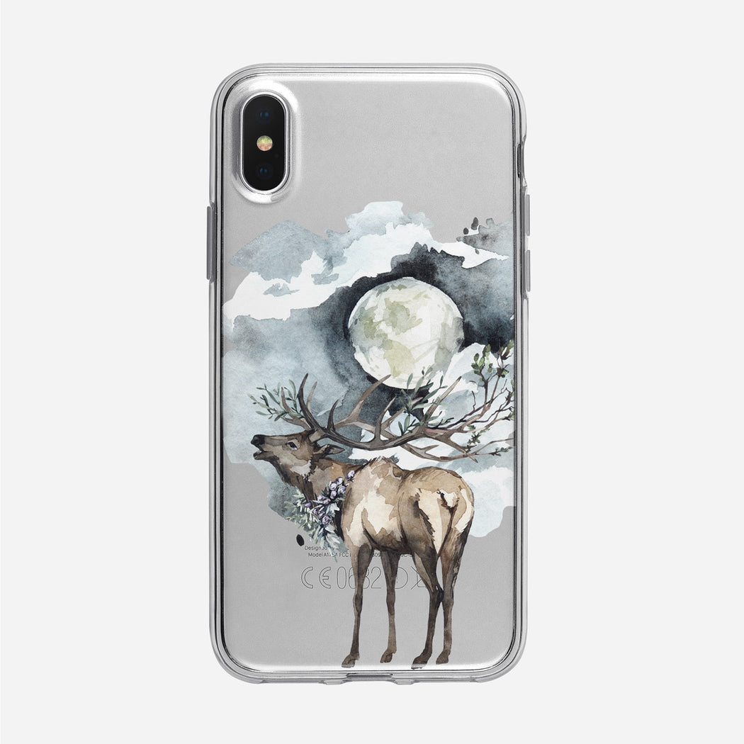 Moonlit Forest Deer iPhone Clear Case from Tiny Quail