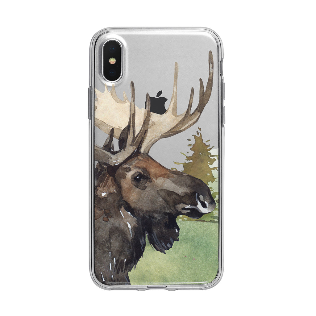 Beautiful Forest Moose iPhone Clear Case from Tiny Quail