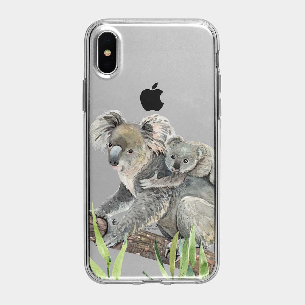 Mother Koala and Joey iPhone Case From Tiny Quail