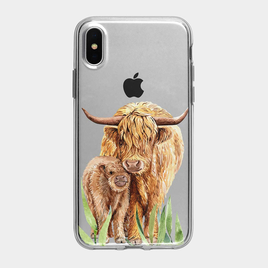 Mother Yak and Calf Clear iPhone Case From Tiny Quail