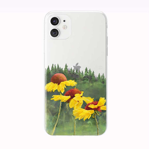 Pretty Yellow Mountain Flowers iPhone Case by Tiny Quail