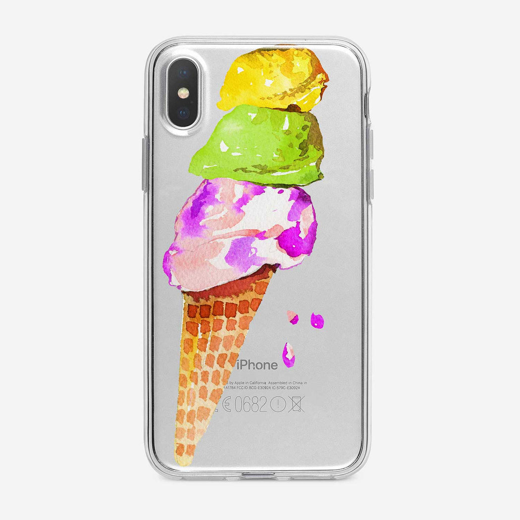 Colorful Ice Cream Cone iPhone Case from Tiny Quail