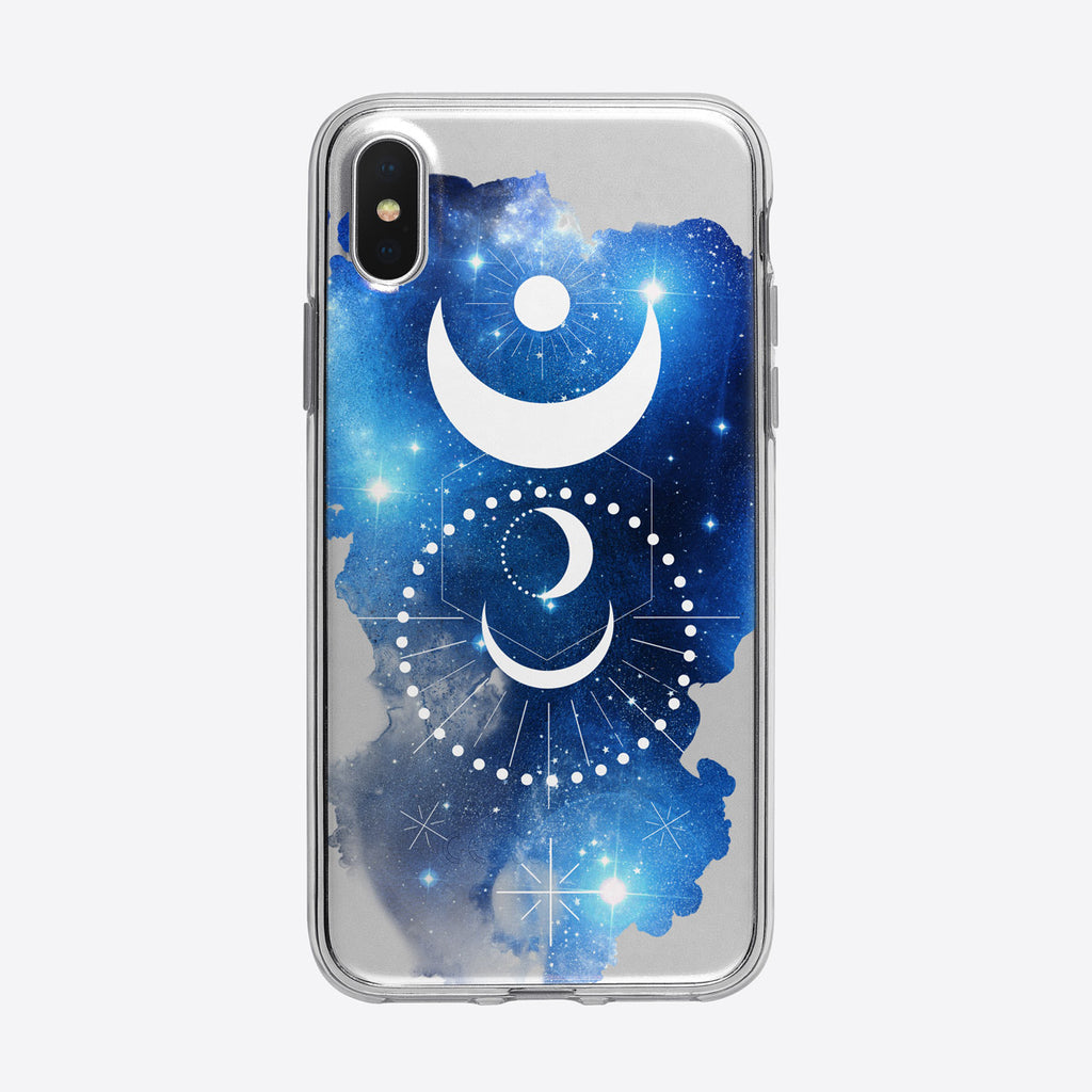 Mystical Moon Cosmos iPhone Case from Tiny Quail