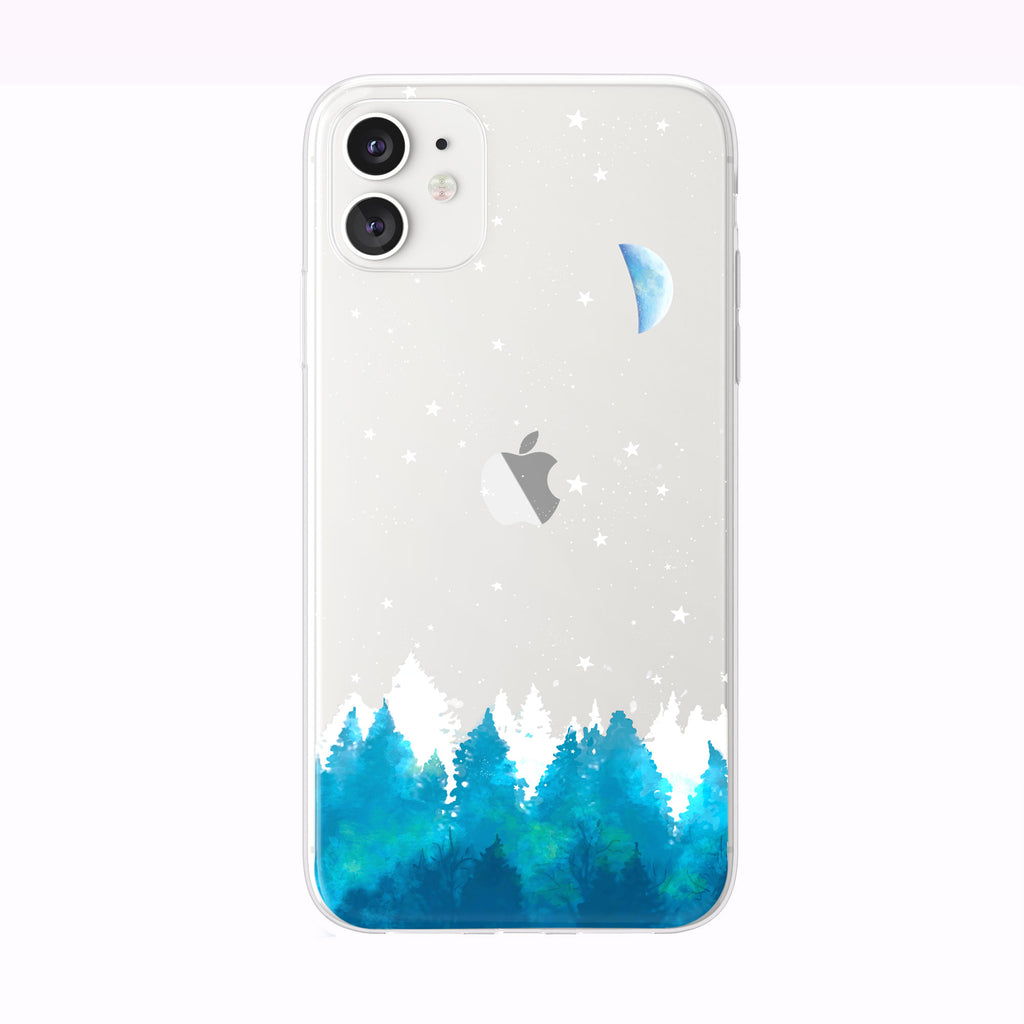 Enchanted Evening Blue Forest iPhone Case from Tiny Quail