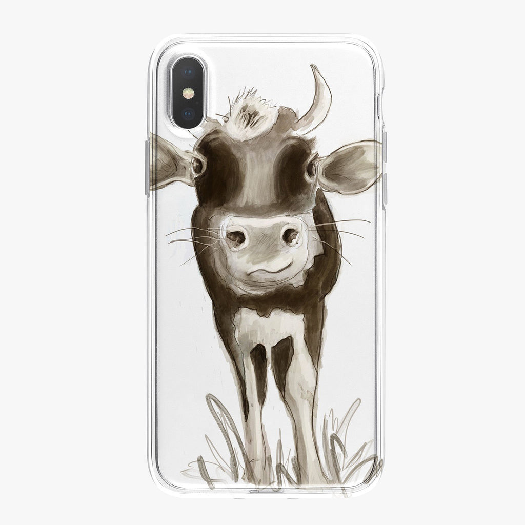 Black and White Cow Designer iPhone Case